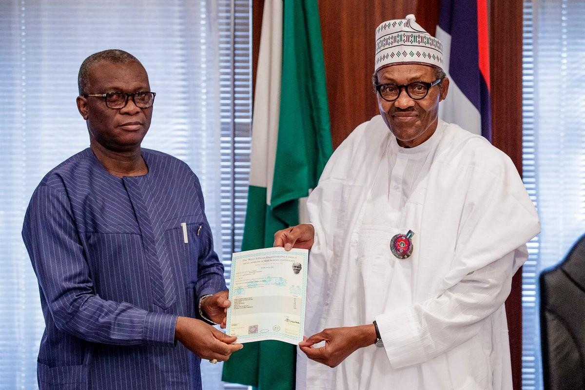 Buhari WAEC certificate